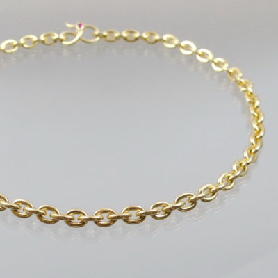 Collier Goldkette mit Rubin 585 Gold  68g