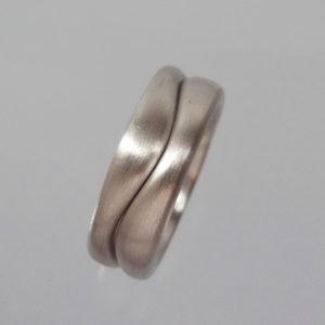 Wellenring 925 Silber kombiniert
