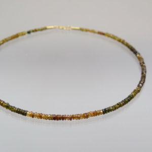 Turmalin Kette  585 Gold  41,5 cm