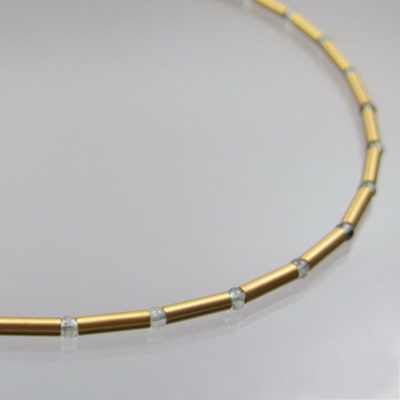 Collier mit Aquamarin 585 Gold