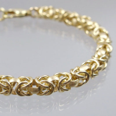 Armband Königskette 585 Gelbgold 29g