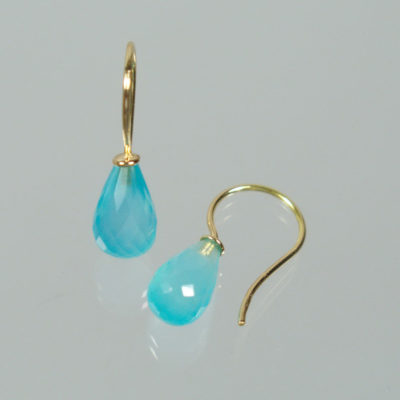Ohrhänger 750 Gold Chalcedon Pampeln