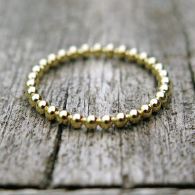 Kugelring Stapelring 750 Gold