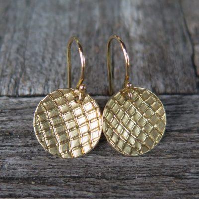 750 Gold Ohrhänger Struktur Ohrringe